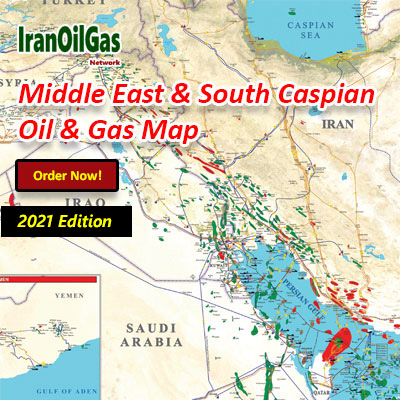 Middle East & South Caspian Oil & Gas Map